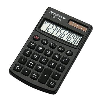 Olympia Taschenrechner Lcd 1110 Schwarz Amazonde Bürobedarf
