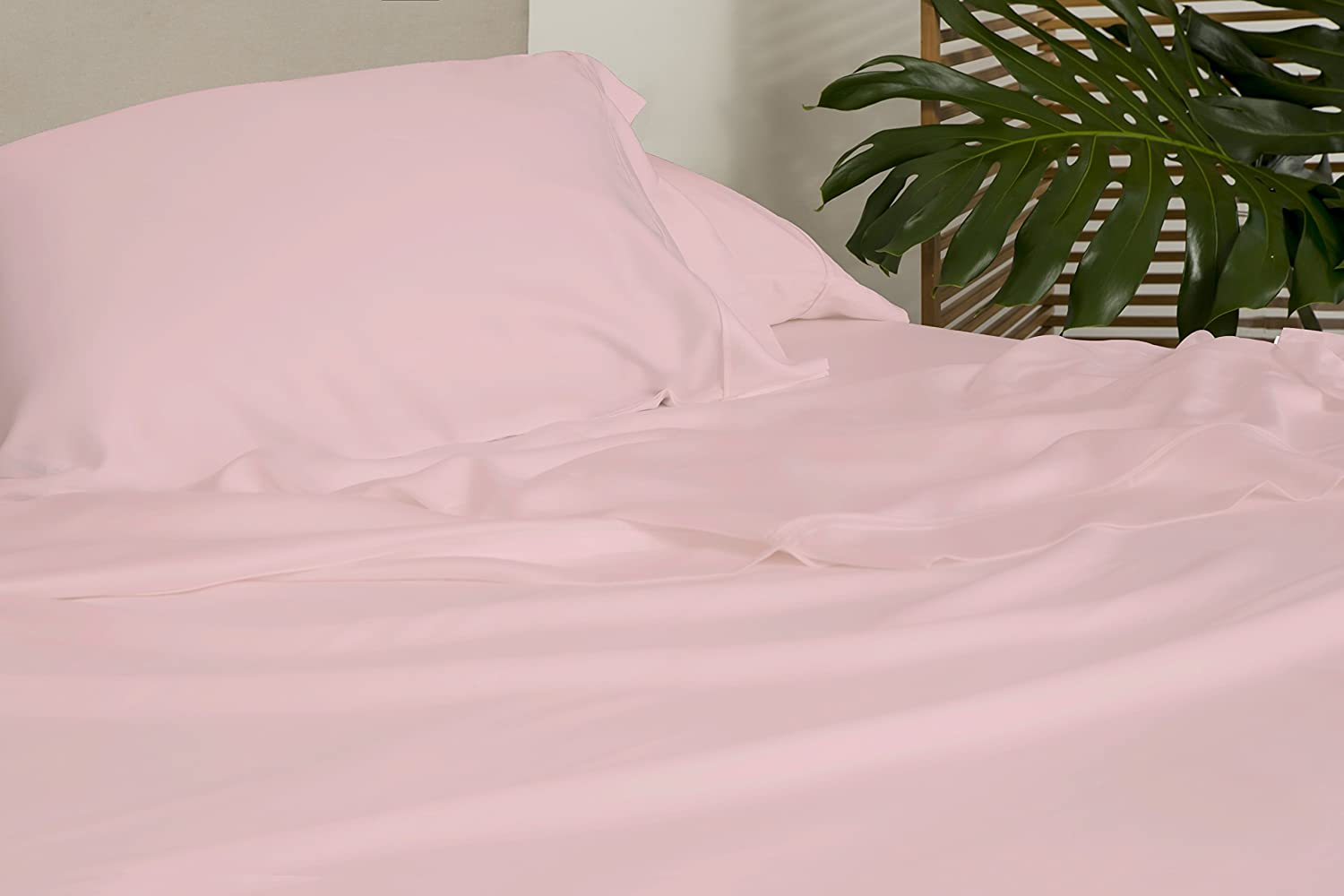 SHEEX Arctic Aire Max Sheet Set with 2 Pillowcases, 100% Tencel with CoolX Technology, Pink, King