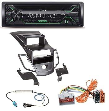 Sony CDX de g1202u 1DIN AUX USB CD MP3 Radio de coche para Ford Fiesta (08 - 10 Pantalla), color negro: Amazon.es: Electrónica