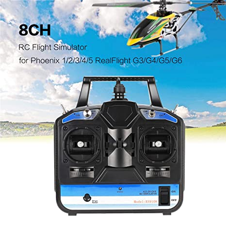 Amazon com: 8CH RC Flight Simulator RC Transmitter for