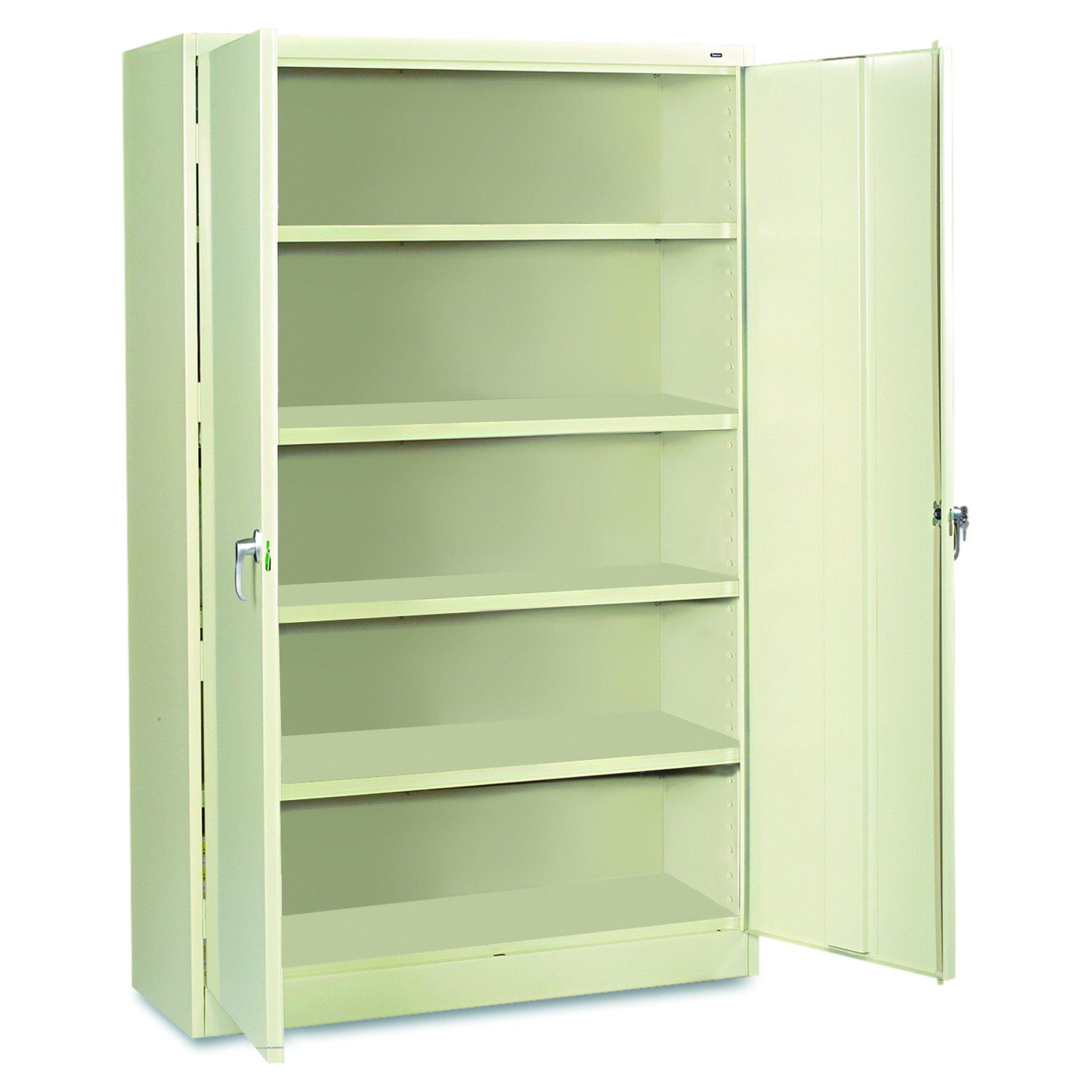 Tennsco J2478SUPY Assembled Jumbo Steel Storage Cabinet, 48w x 24d x 78h, Putty