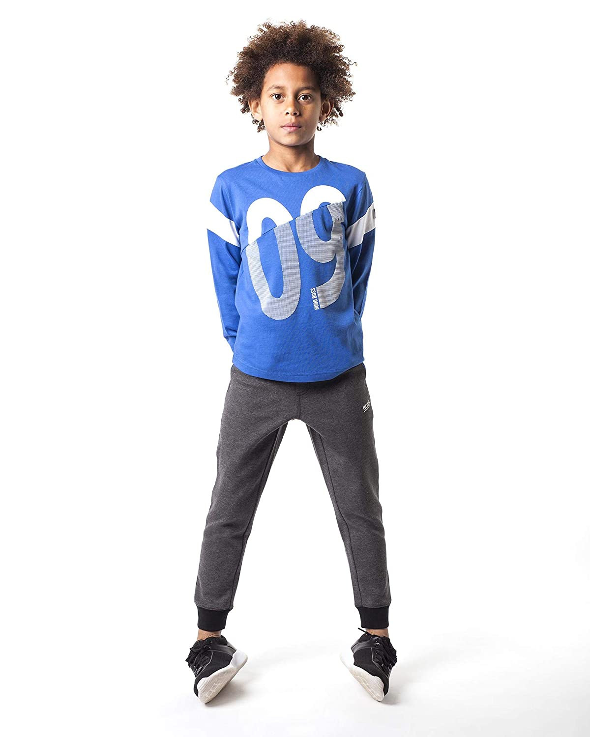 Sizes 6-16 BOSS Boys T-Shirt with Numbers Print