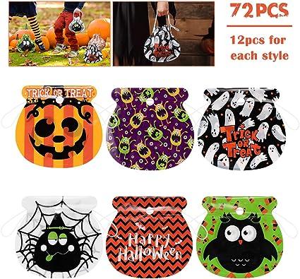 Amazon.com: Amosfun 72 bolsas de caramelos de Halloween ...