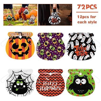 Amosfun - Bolsas de regalo con cordón para Halloween, 72 ...