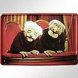 "Waldorf and Statler ""Muppet Show"" Evil Grandpas Blechschild"