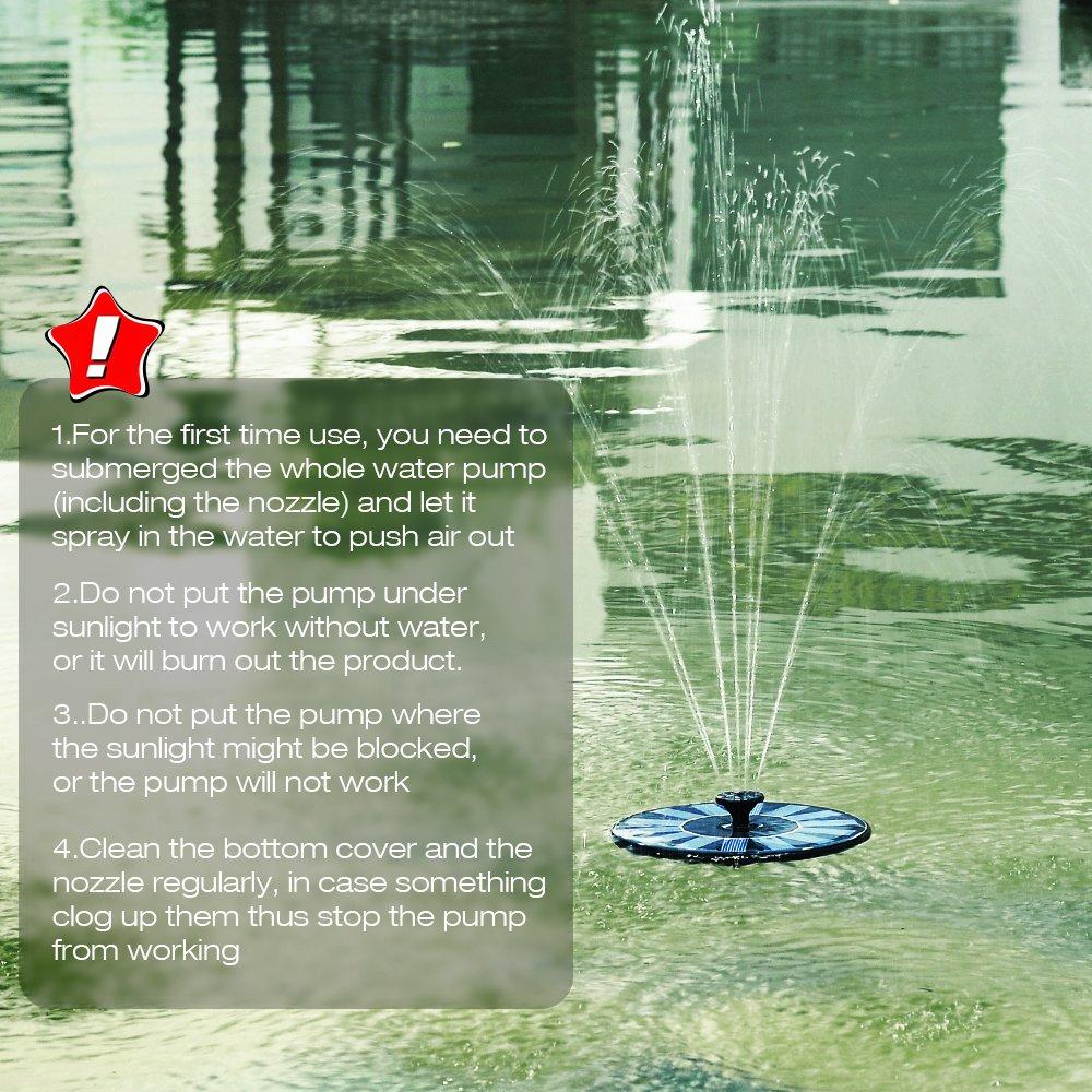 Amazoncom  VicTsing Solar Powered Bird Bath Fountain Pump With - Amazon pond pumps