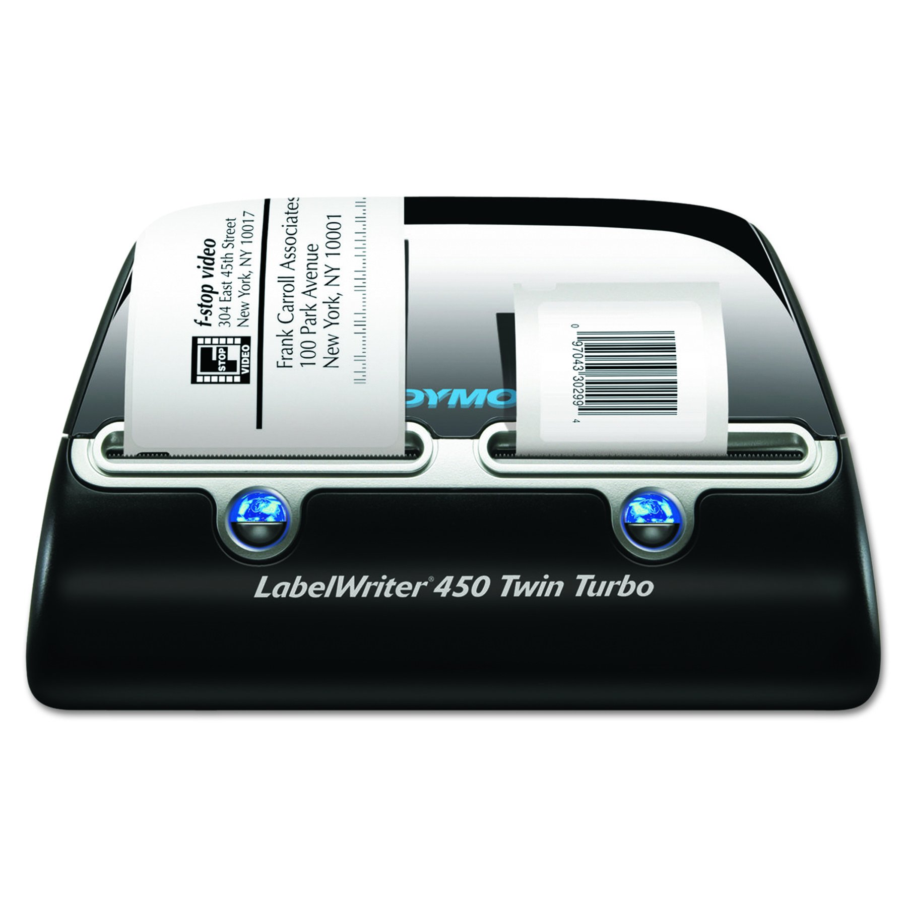 DYMO Label Writer 450 Twin Turbo label printer, 71 Labels Per Minute, Black/Silver (1752266) by DYMO