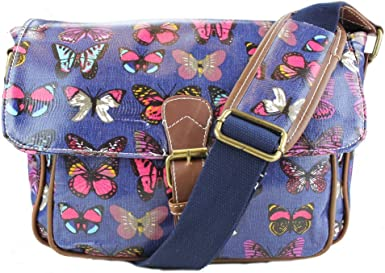 Miss Lulu Petit sac en toile cirée Imprimé papillon