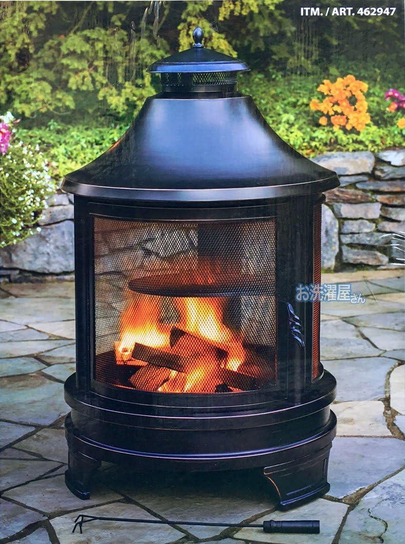 OUTDOOR FIRE COOKING PIT ファイヤー ピット 調理用焼き網付き 屋外使用専用暖炉