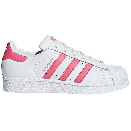 new style ba668 9b2b9 Adidas Original Superstar Scarpe da Donna Ginnastica Basse Bianco. Sneakers  Moda. Amazon.it Scarpe e borse