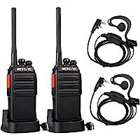 Retevis RT24 Plus sans Licence Talkie Walkie Rechargeable Radio PMR446 Légal en France et Europe 16 Canaux CTCSS/DCS avec Écouteurs (Noir, 2 pcs)