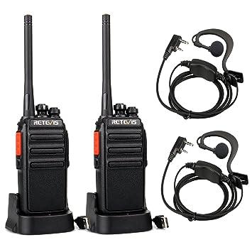 Retevis RT24 Plus Walkie Talkies PMR446 sin Licencia 16 Canales Alcance de hasta 3 KM Cargador USB Universal Walkies Profesionales con ...