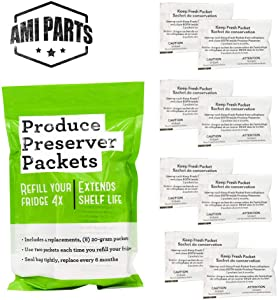 AMI PARTS W10346771A Produce Preserver Replacement Part Compatible with Kitchenaid/Whirlpool Refrigerators(4 replacements-8packs)