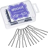 eBoot 100 Pack of Bun Hair Pins U Shaped Pins with Box and Storage Bag