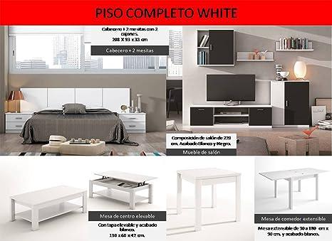 LIQUIDATODO ® - Piso completo moderno y barato white: Amazon ...