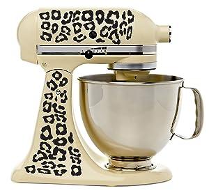 Leopard Print Kitchenaid Mixer Mixing Machine Decal Art Wrap