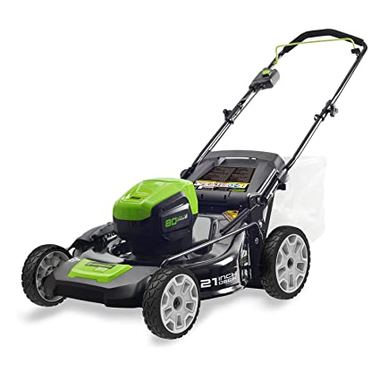 amazon com : greenworks pro 80v 21-inch cordless lawn mower, battery not  included, glm801600 : garden & outdoor