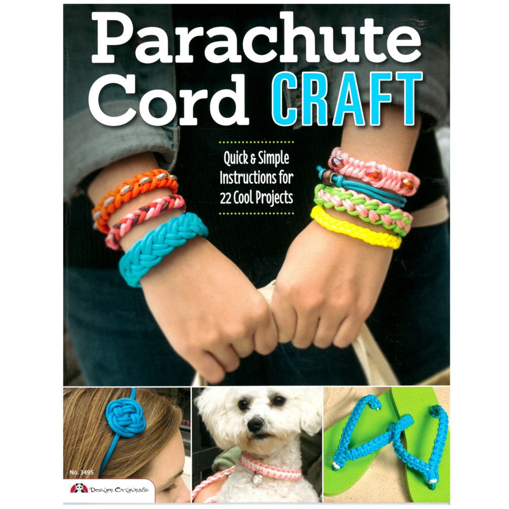 West Coast Paracord 22 Quick Parachute Cord Craft - Quick & Simple Instructions for 22 Cool Projects - Make Bracelets Keychains Lanyards Dog Collars