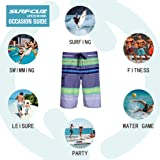 SURF CUZ Men's Board Short Stripe Beach Short 4-Way
