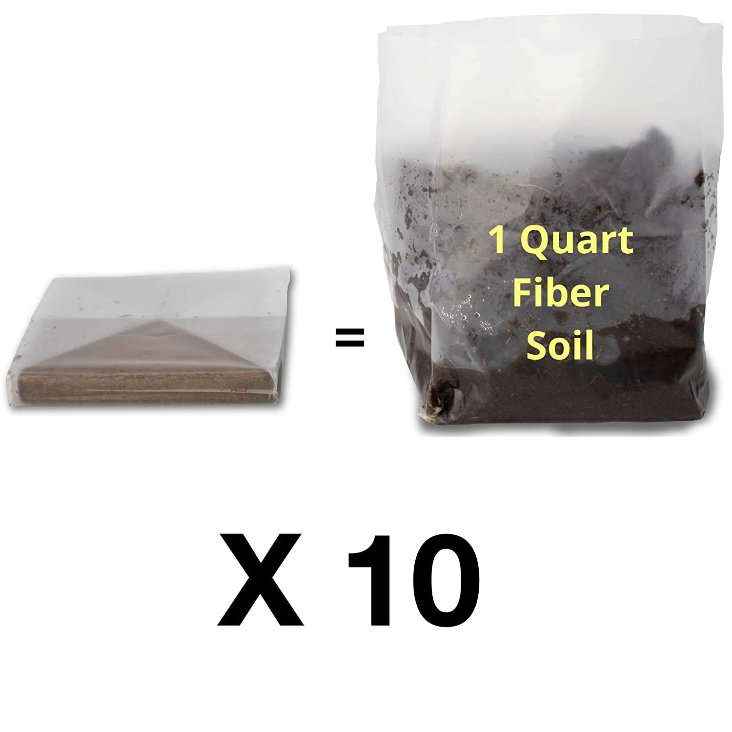 For Planting Indoor Container House Plants Organic Potting Soil Herbs 10 Quarts Microgreens Hydrating Bag = Healthy Plants Easy-to-Store. Wheatgrass Fiber Soil Seed Starting Succulents