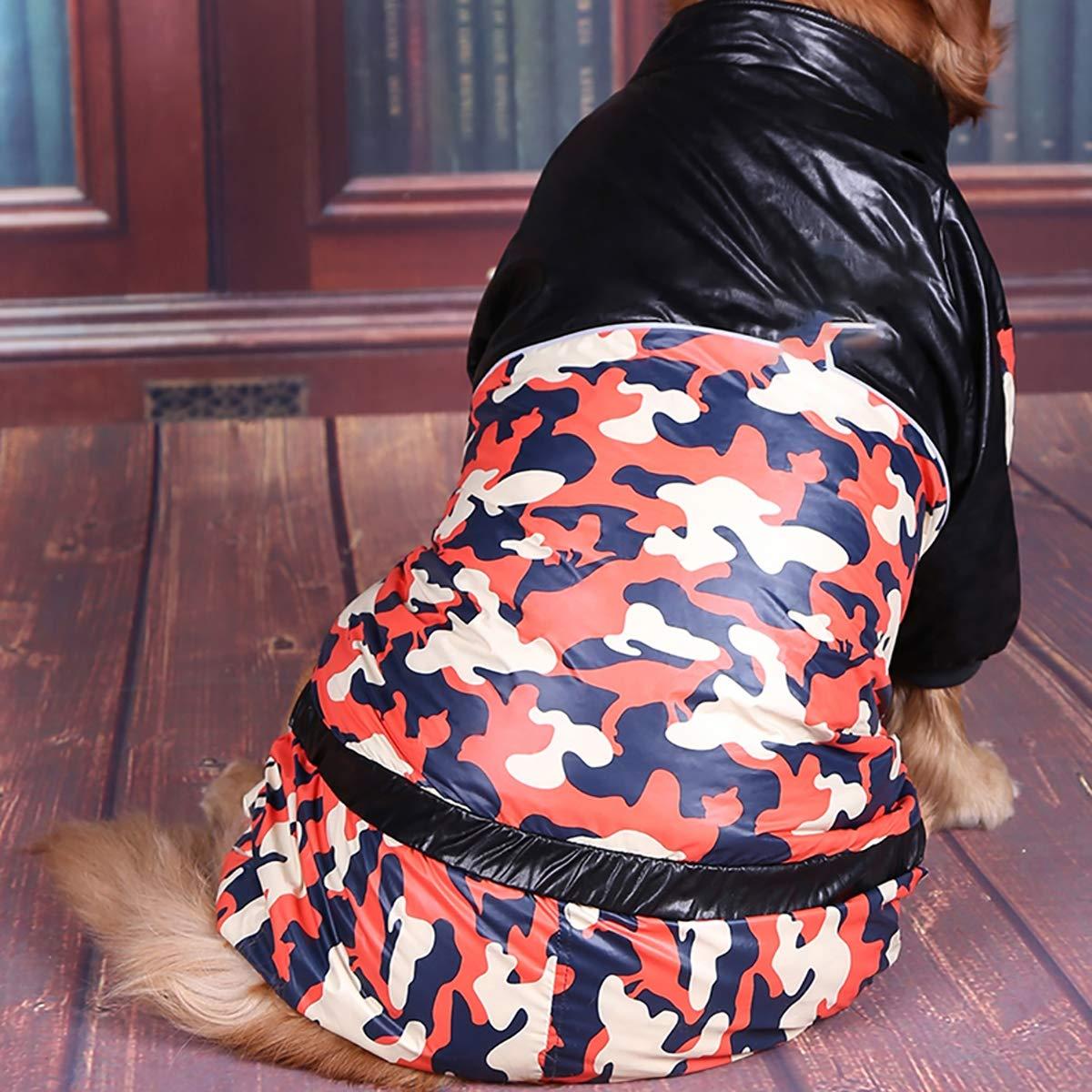 orange 38 orange 38 Winter Big Dog Clothes, Medium and Large Dogs, golden Retriever, Satsuma Huskies, Dubinde, Camouflage, Four-Legged Clothes,orange,38