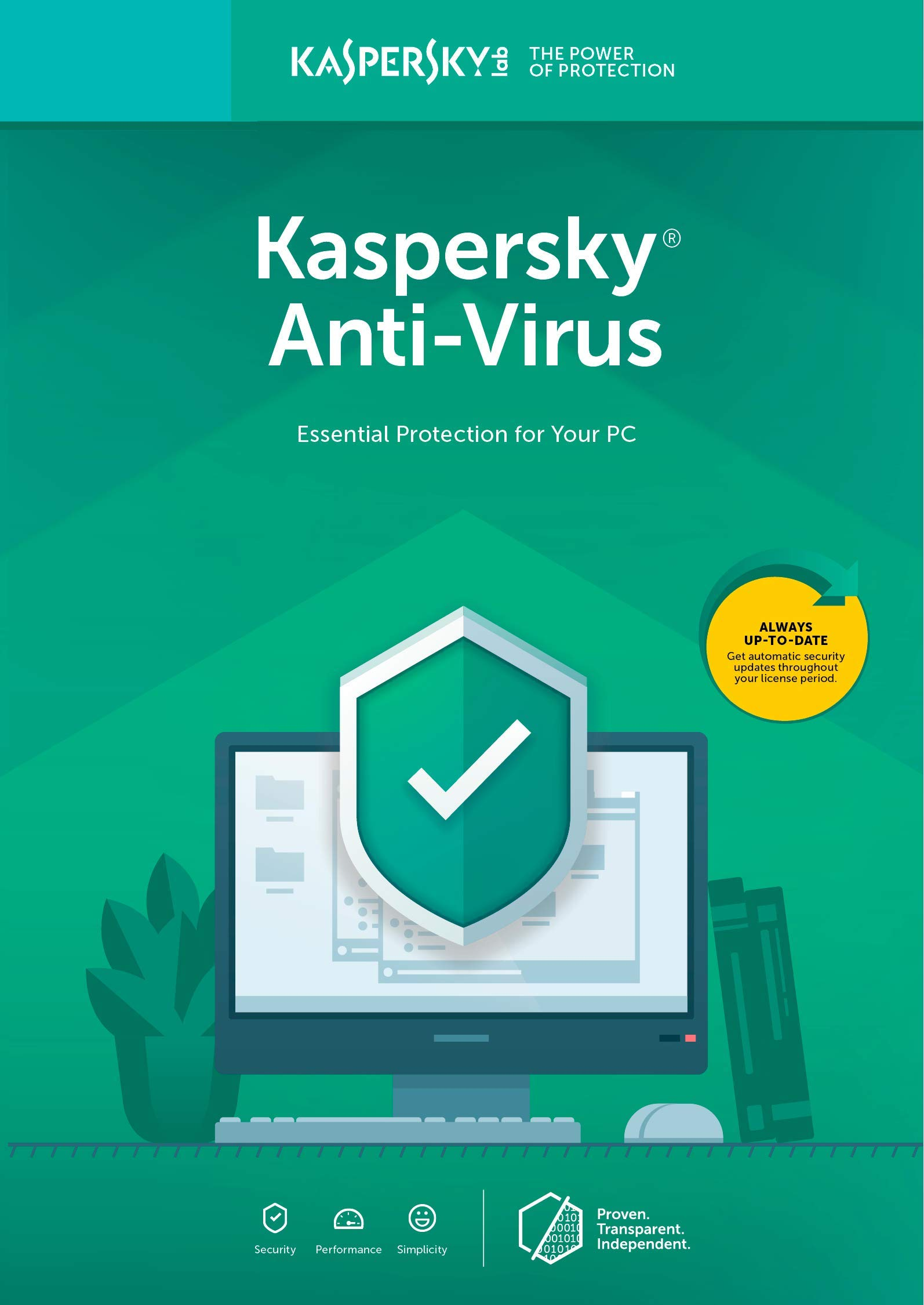 Kaspersky Anti-Virus 2018 | 3 Device | 1 Year [PC Key Code] by Kaspersky