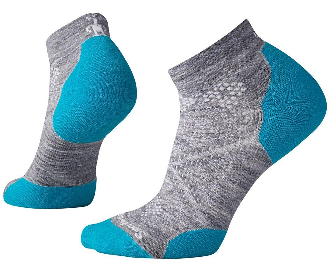Smartwool Women's Phd Run Light Elite Low Cut Socks,  Light Gray/Capri, Small by SmartWool (Image #1)