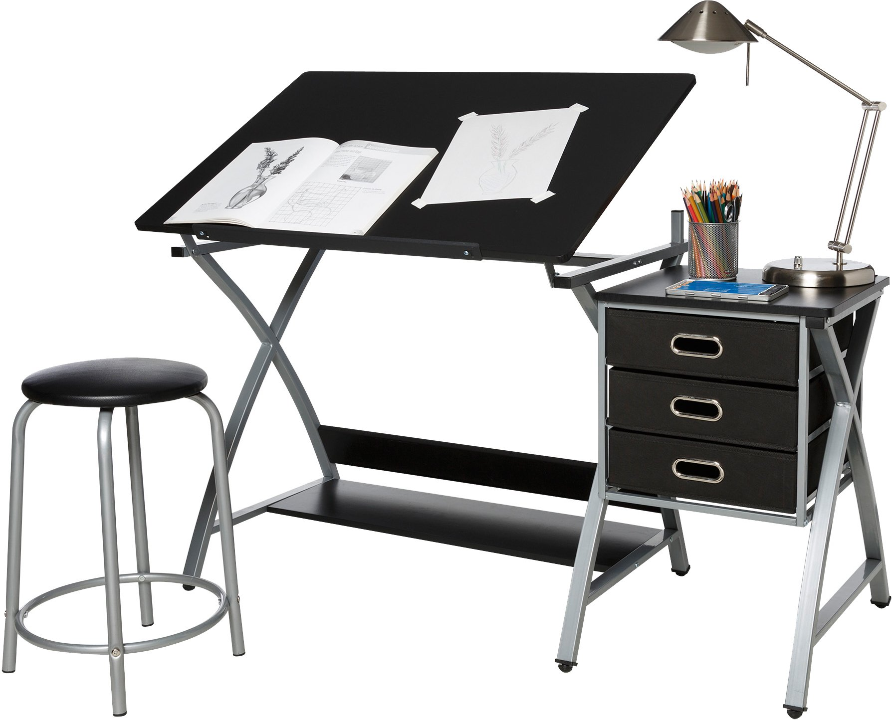 OneSpace 50-CS03 Craft Station, Black and Silver by OneSpace