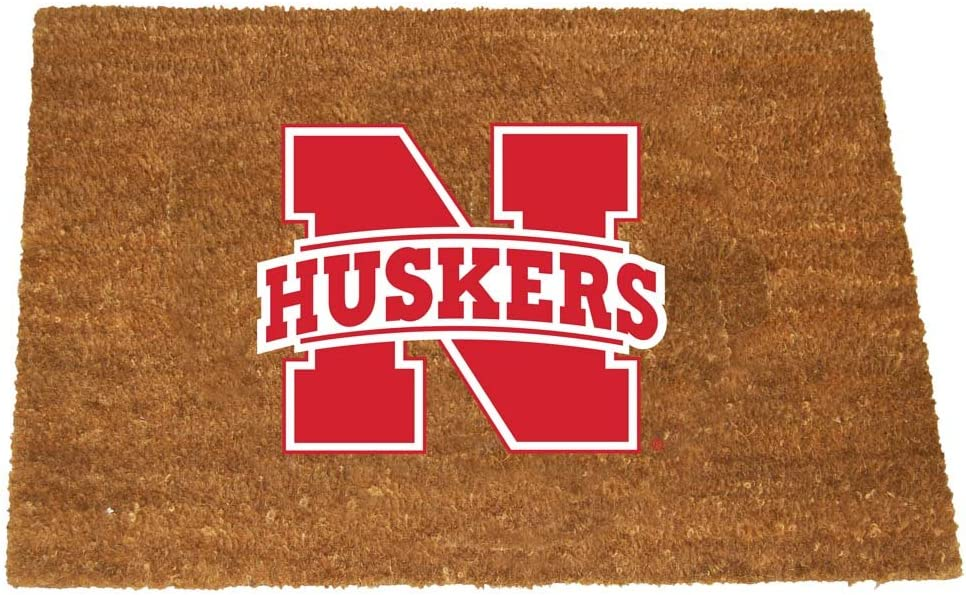 The Memory Company NCAA University of Nebraska Colored Logo Door Mat One Size Multicolor