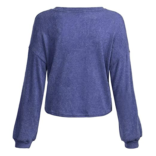 ASHOP Ropa Mujer, Sudaderas Mujer largas Blusas Verano Color Azul Tops Fiesta: Amazon.es: Ropa y accesorios