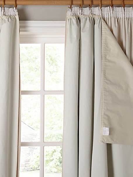 John Lewis Pencil Pleat Blackout Curtain Linings Ivory Width 162 X Drop 220cm 64