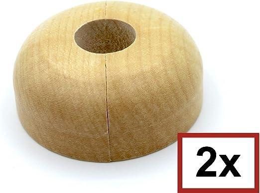 Rohrabstand variabel 15mm, Nuss Echtholz: Ahorn Nuss Holz Kirsche Mahagoni Eiche 19mm Abdeckung f/ür Heizungsrohre Heizung 3 ST/ÜCK Doppel-Rosette f/ür Heizungsrohre 22mm 15mm Buche