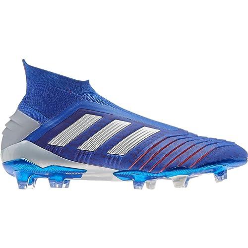 adidas Predator 19+ FG, Bota de fútbol, Bold Blue Silver