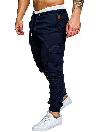Herren Hose Cargo Chino Jeans Stretch Jogger Sporthose Slim Fit Freizeithose