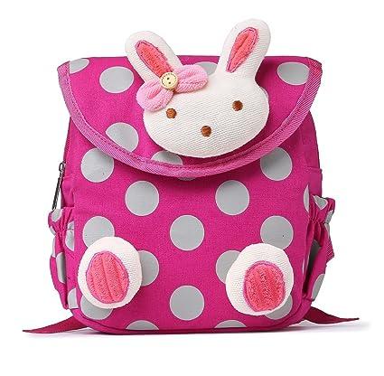 Mochilas Infantiles, URAQT Mochilas para Niños, Bolsa Escuela para Pequeña Bebes, Girl Mochila Rosa Bunny/Mochila Escolares con Correa/Mochila ...