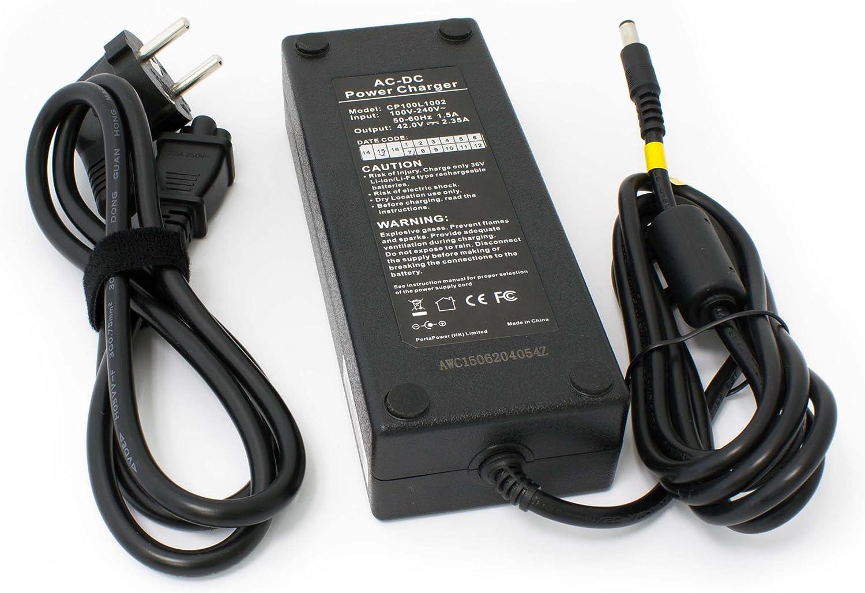 vhbw Cargador de baterías Li-Ion/Li-Fe Adecuado para Bicicletas ...