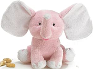 """Plush Baby Sissy 8"""" Pink Elephant Soft and Sweet for Baby Nursery"""