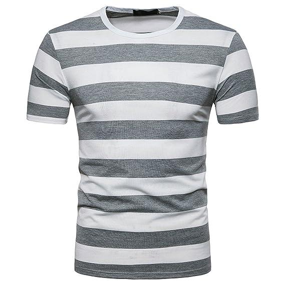 Manches Chemise Rayé Courtes Homme À Rayures Shirt t Pour T rxBthQdsC