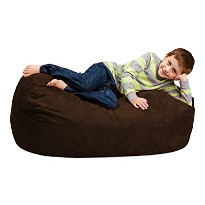 Chill Sack Bean Bag Chair: Large 4' Memory Foam Furniture Bag and Large Lounger - Big Sofa with Soft Micro Fiber Cover - Chocolate: Kitchen & Dining