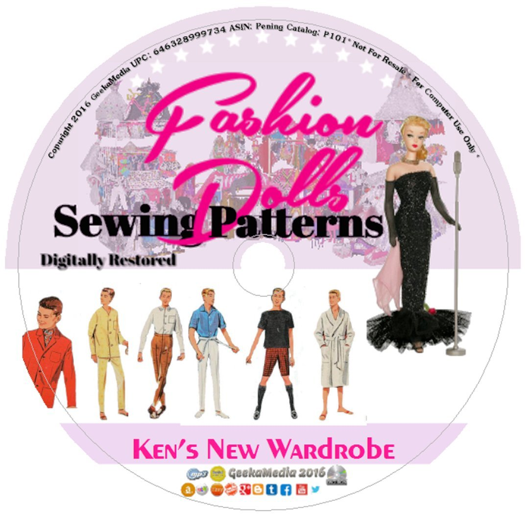 Download Ken's New Wardrobe: Sewing Patterns Barbie's Boyfriend P101 PDF