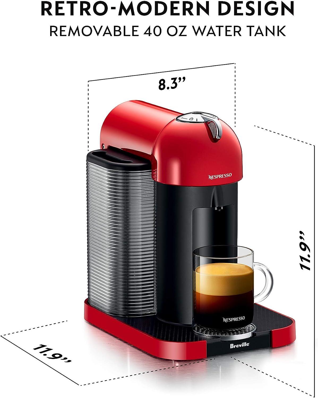 Nespresso VertuoLine cafetera y cafetera espresso con aeroccino y espumador de leche, color negro: Amazon.es: Hogar