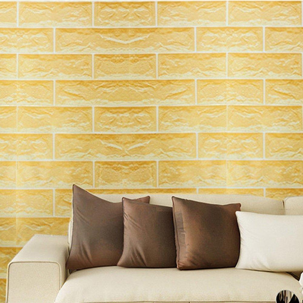 SimpleLife4U Yellow Brick Pattern Contact Paper Self-Adhesive Shelf ...