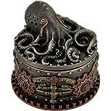 Decorative Bronze Finish Steampunk Octopus Trinket Box