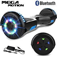 "Mega Motion Self Balance Scooter 6,5"" - 2018 Elektro Scooter E-Skateboard - Scooter - UL zertifizierten 2272 LED - Räder mit LED Licht -Bluetooth Lautsprecher – 700W Motor"