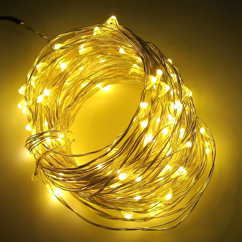Smartlive Led String Lights Dc 12v 10m 33feet 100 Leds 100leds Warm White Copper Wire Strip Waterproof Starry Decor Rope Light For Holiday Wedding Party