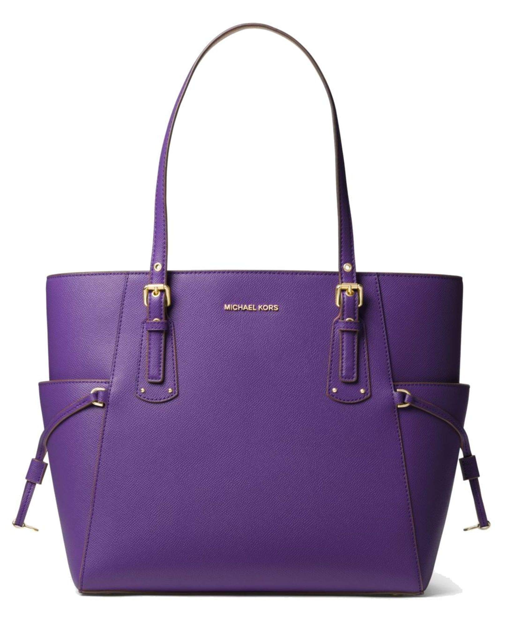 MICHAEL Michael Kors Voyager Small Crossgrain Leather Tote Bag, UltraViolet by Michael Kors