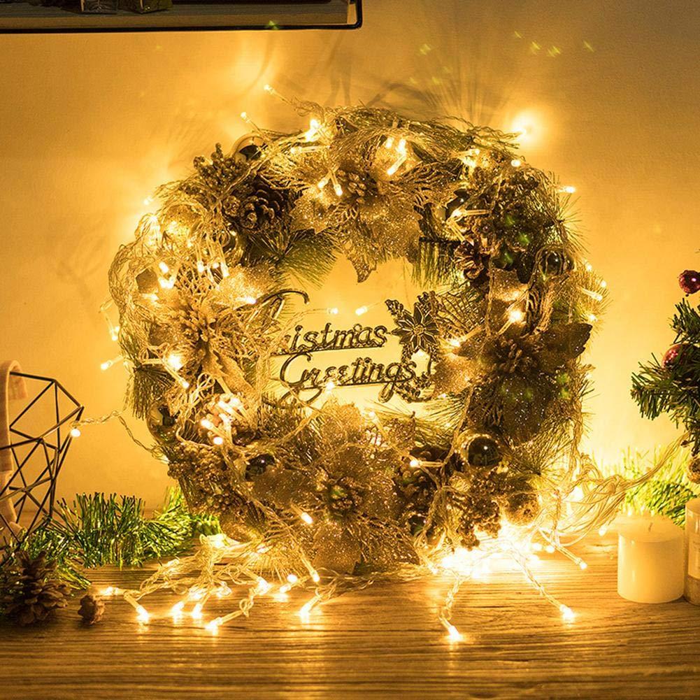Cuisine & Maison Couronne de Noël en or pour décoration de jardin ...