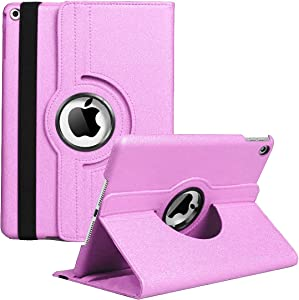 iPad Mini 1/2/3 Case - 360 Degree Rotating Stand Case Cover with Auto Sleep/Wake Feature for iPad Mini 1/iPad Mini 2/iPad Mini 3 (Pink)
