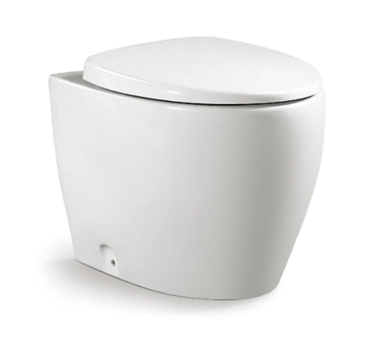 Bidet Import For Me Sanitari Bagno Round Filo Parete in Ceramica WC con Sedile