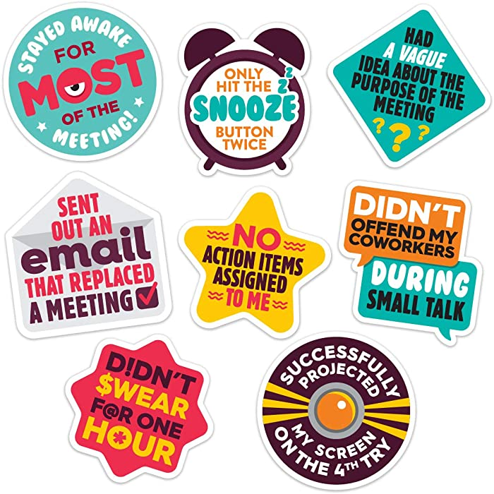 Work Merit Stickers - Reward Office Adulting - Funny Office Gifts - Funny Gifts for Coworkers - Perfect White Elephant Gift